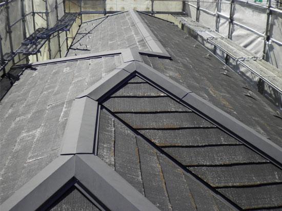 コロニアル屋根の葺き替え工事前